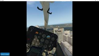 VR! X-Plane 11 helicopter (Dreamfoil B407)