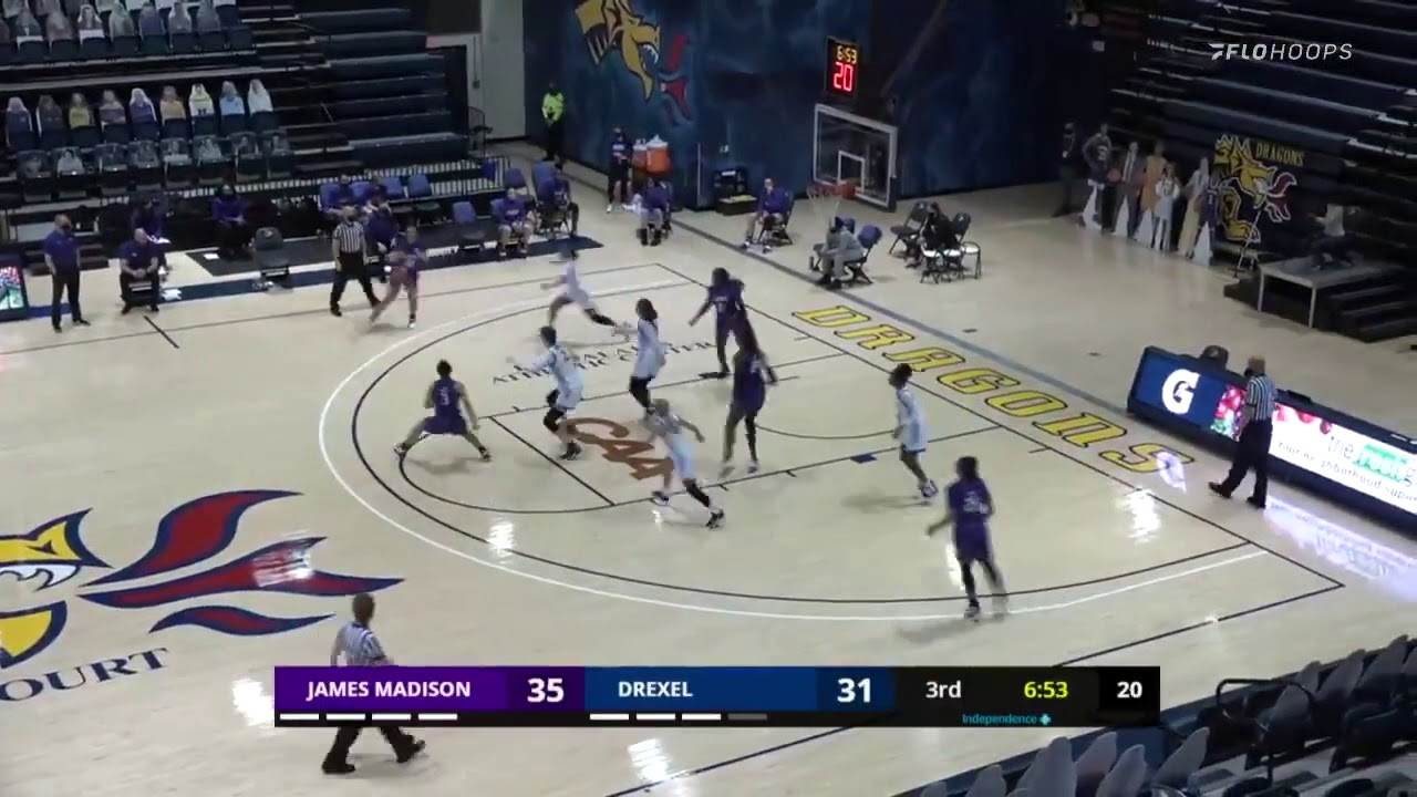CAA WBB Highlights | JMU 61, Drexel 51 (2/28/21)