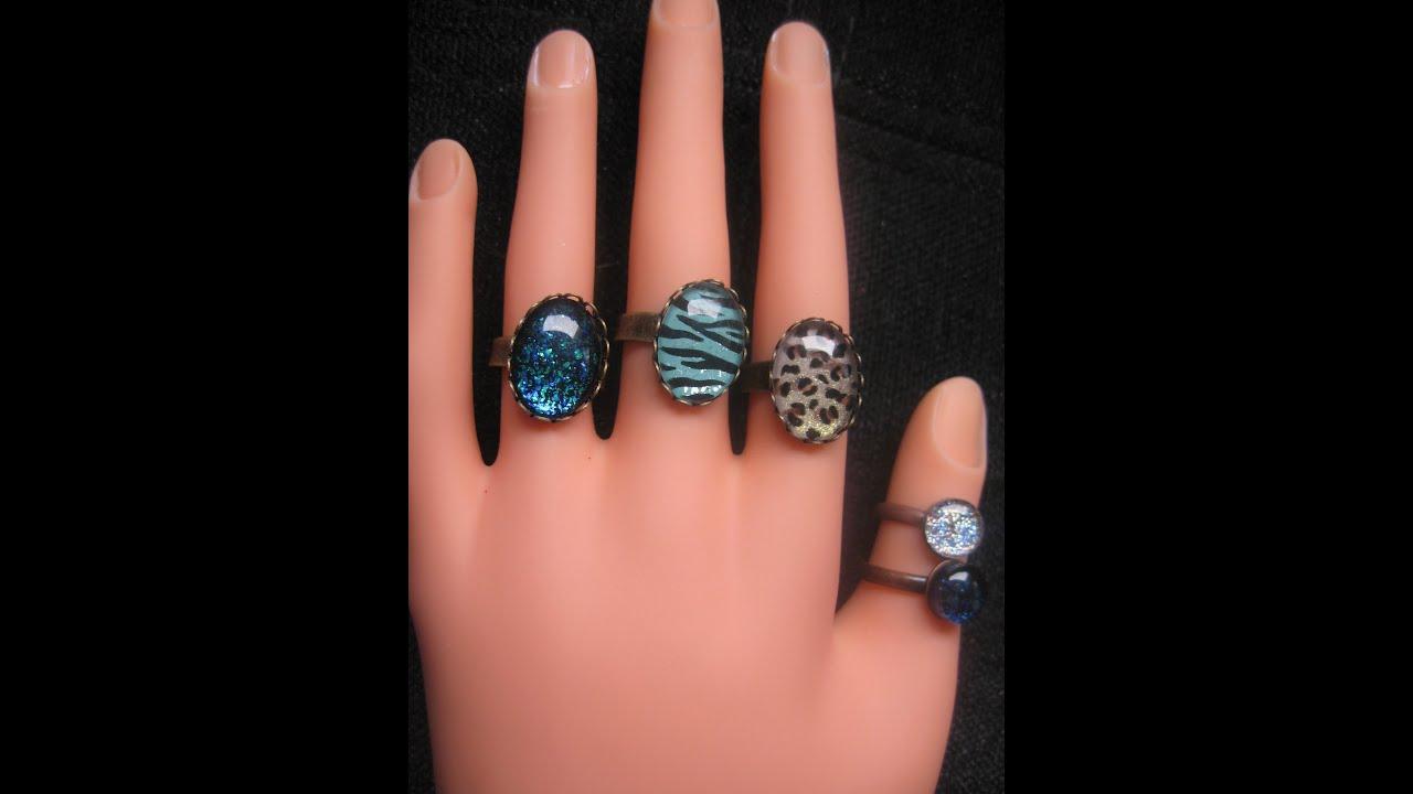 DIY: Nailpolish earrings and rings - YouTube