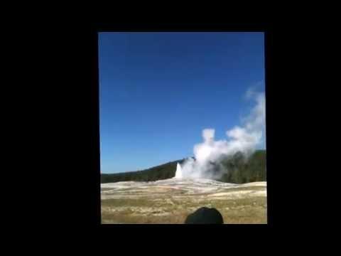 """Hi-eee!"" Old Faithful, Yellowstone National Park (Wyoming)--Sept 2011"