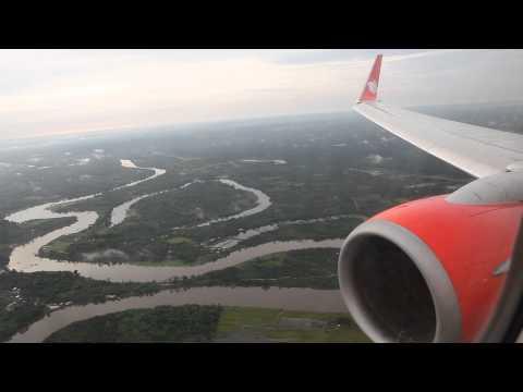 Lion Air Morning Landing At Sultan Syarif Kasim II Airport In Pekanbaru