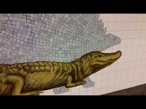 Museum of Natural History at 81st Street Subway NYC 2016
