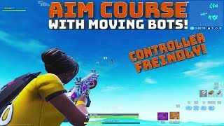 Aim Course With Moving Sentries! - Controller Friendly! - (Fortnite Battle Royale)