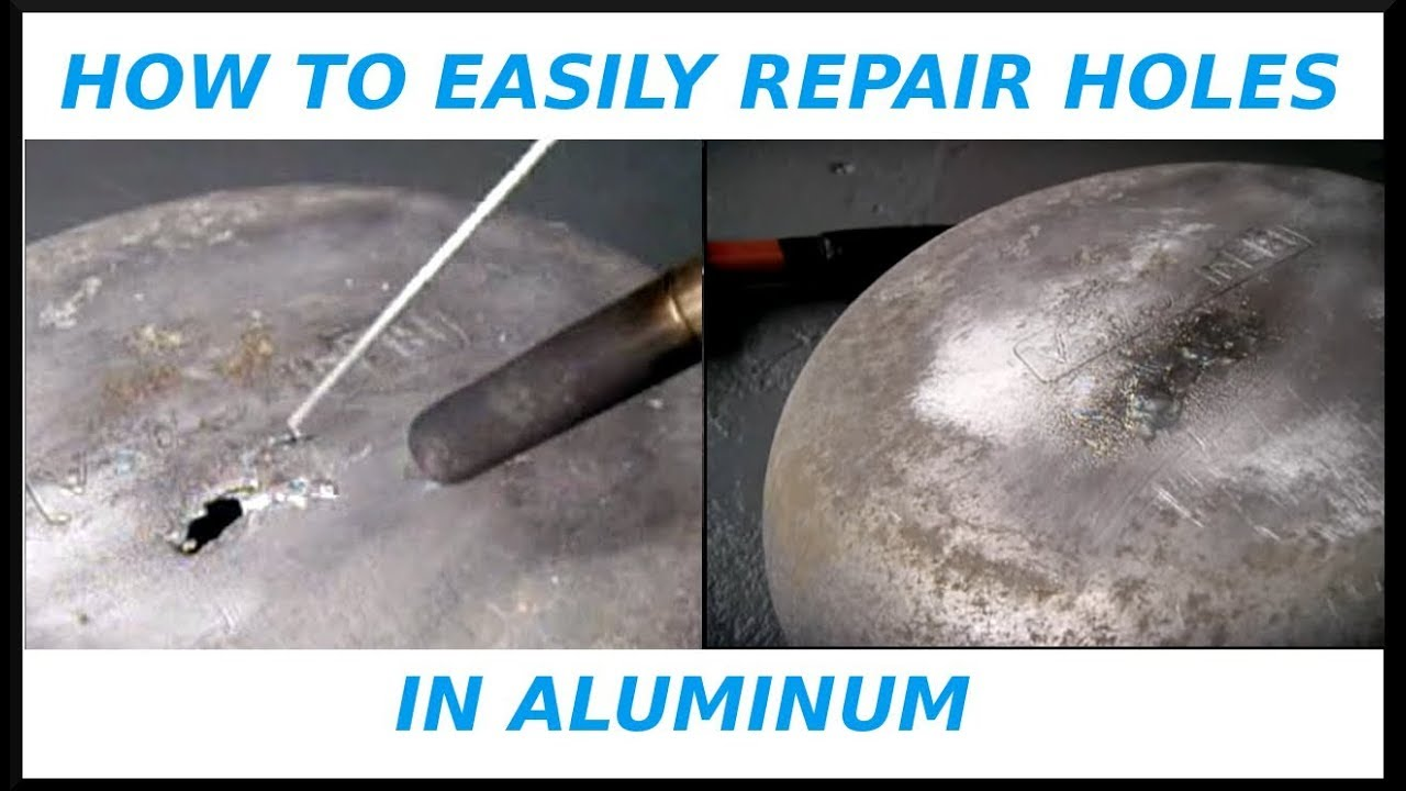 How To Easily Repair Holes In Aluminum Youtube