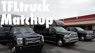 2015 Ford F-350 vs Chevy 3500 vs Ram 3500 Heavy Duty Dually Matchup Towing Review