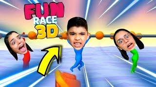 O PARKOUR MAIS DICÍFIL E ENGRAÇADO DO JOGO FUN RACE 3D - THE MOST DIFFICULT AND FUNNY PARKOR