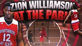 zion williamson at the mypark top high school dunker nba2k17