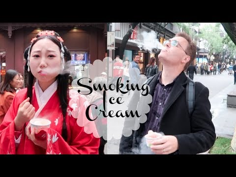 Smoking Ice Cream in China! Super Fun to Eating it! You Need to Try!