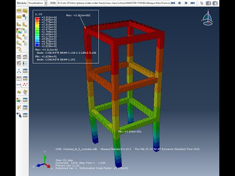 ABAQUS Framed Reinforced Concrete Multi-Storey Structure Under Earthquake