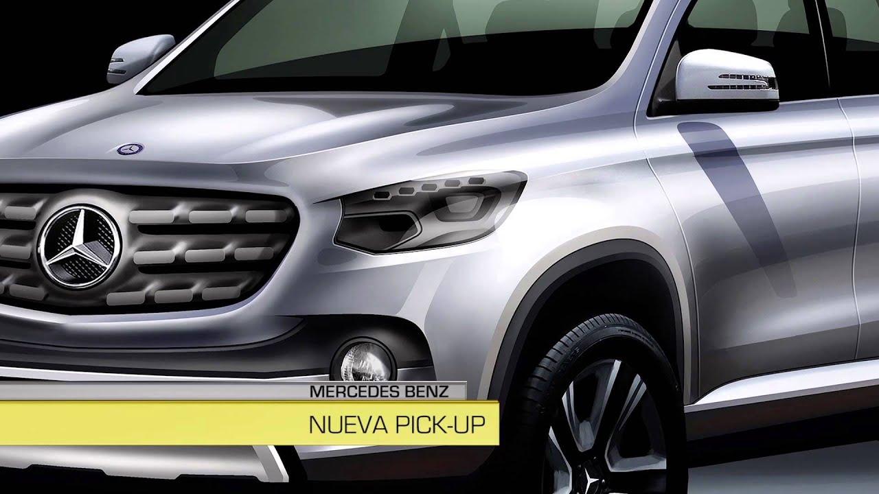 Tn autos flash de noticias pick up mercedes benz youtube for Mercedes benz pick up