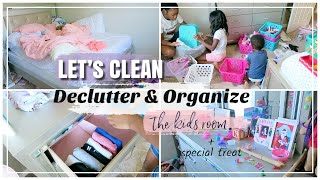 LET'S CLEAN TOGETHER // ORGANIZING THE KIDS ROOM