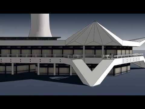 Berlin Alexanderplatz - Fernsehturm und Pavillons - TV Tower and Pavillons - a SketchUp Video