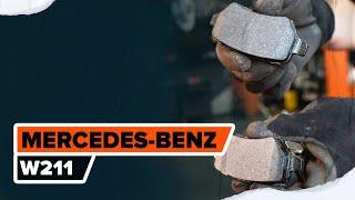 Cómo reemplazar Juego de pastillas de freno MERCEDES-BENZ E-CLASS (W211) - tutorial