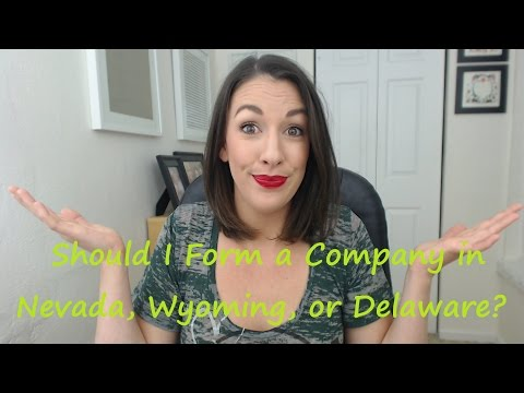 Should I Form a Company in Nevada, Wyoming, or Delaware? - All Up In Yo' Business
