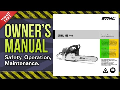 Owner's Manual: STIHL MS 440 Chain Saw