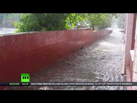 'Storm of the century': Powerful thunderstorm paralyzes Moscow