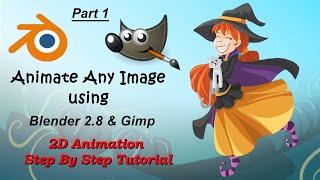 Blender 2.8 Sizin & Gimp ile 2D animasyon yapmak için nasıl - Bölüm 1