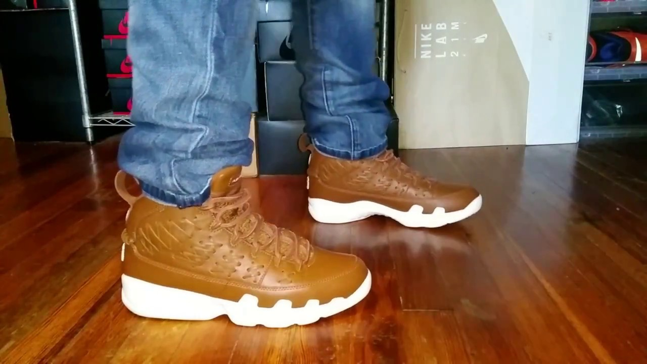 new styles 07970 e9ae3 AIR JORDAN 9 PINNACLE REVIEW + ON FEET - YouTube