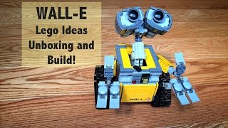 LEGO Ideas WALL-E Set 21303 - Unboxing, and Time-lapse Build & Review