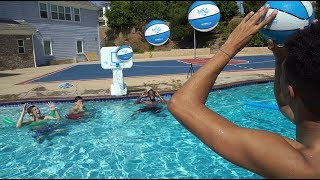 CRAZY POOL MINI BASKETBALL TRICKSHOTS CHALLENGE! ft. Cash, Jesser & TD
