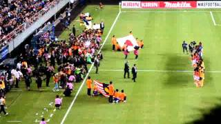 サッカーU-22日本代表選手入場