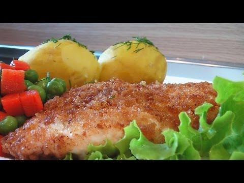 Шницель из кур в сдобных сухарях видео рецепт. Книга о вкусной и здоровой пище