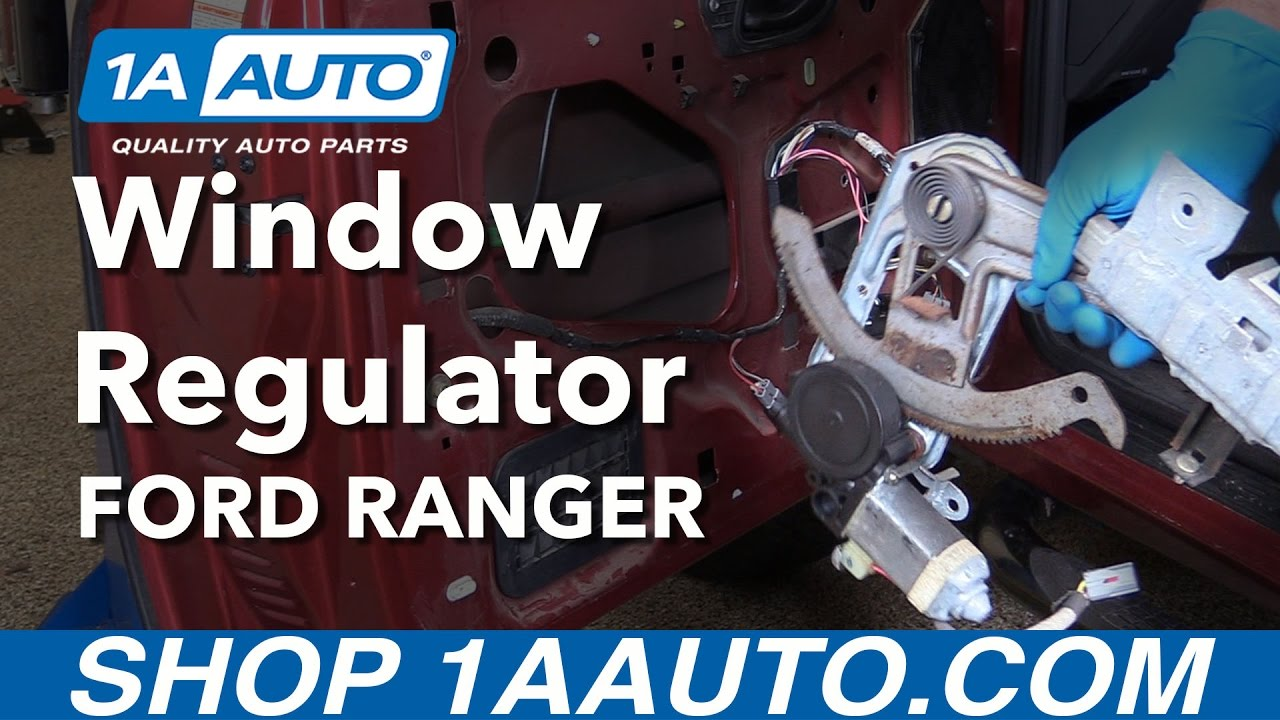 hight resolution of how to replace front drivers side power window regulator 93 11 ford ranger