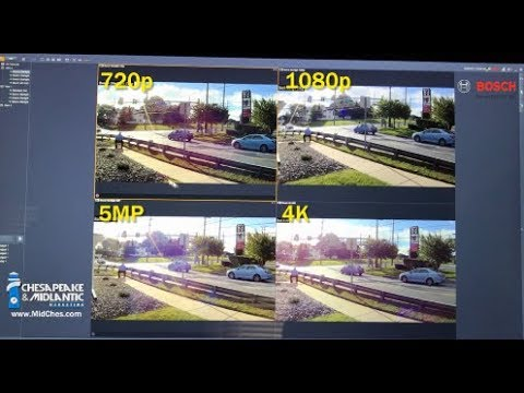 Security Camera Resolution Comparison: 4CIF, 720p, 1080p, 5MP, 4K, and 180 & 360 Panoramic 12MP