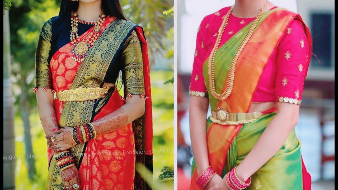 6e3506ce82031d Trendy High Neck Blouses for Brides