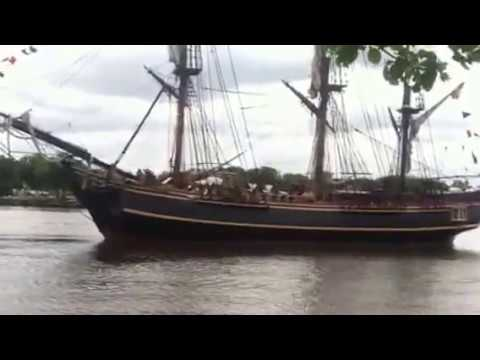 Tall Ship Bounty Fires Cannons (May 2012) - Wilmington, NC