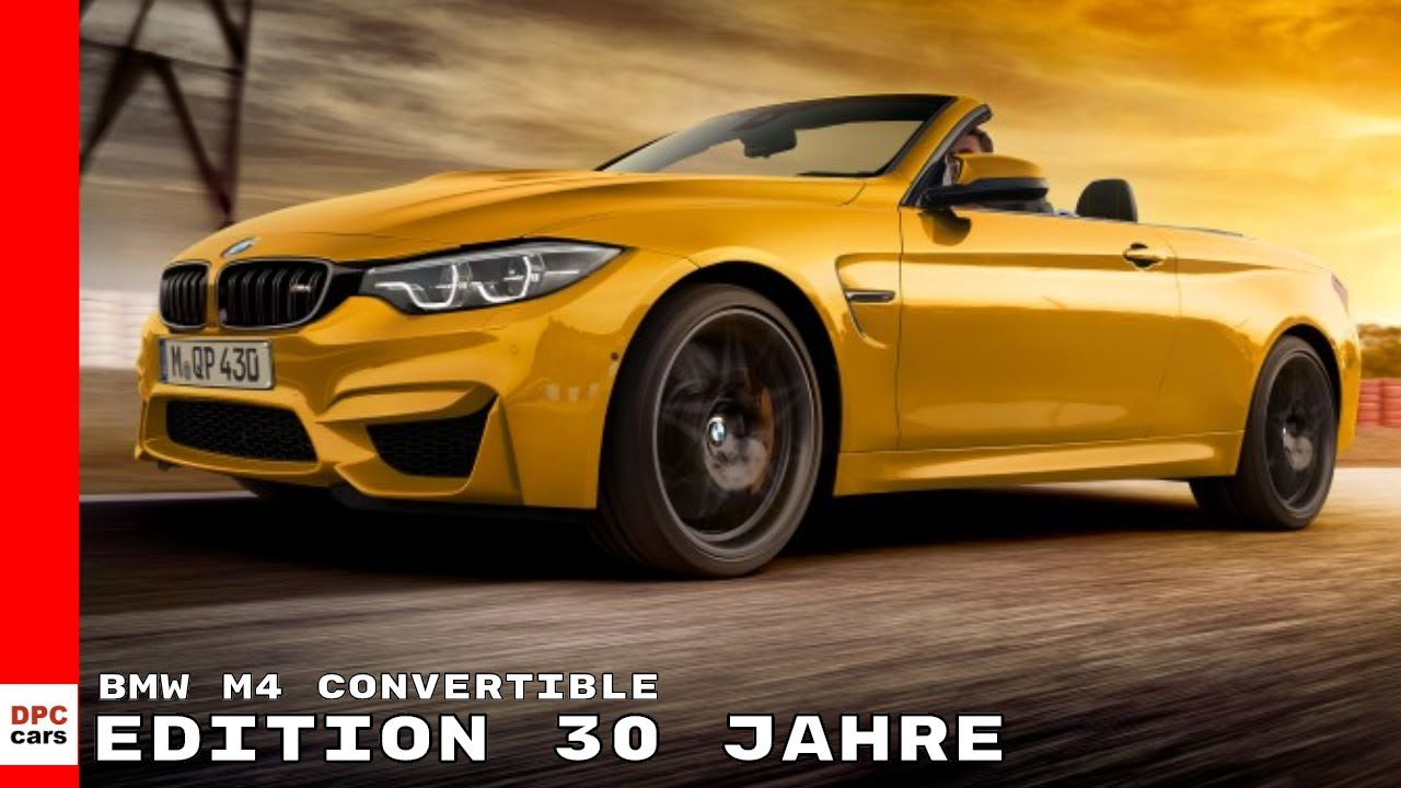 Bmw M4 Convertible Edition 30 Jahre Youtube