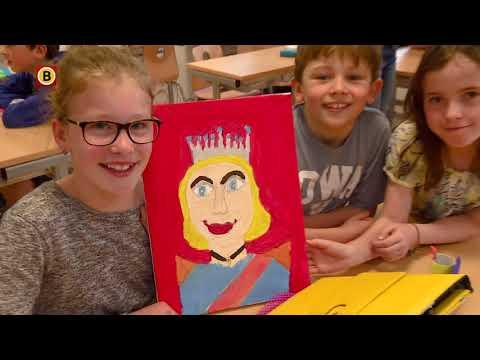 Leerlingen basisscholen Son en Breugel maken schilderijen van koningin Máxima