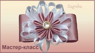 Как сделать цветок из ткани? Цветок №8