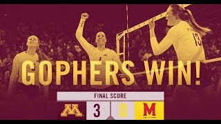 Gophers Take a Victory Over Maryland Straight Sets
