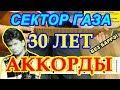 30 лет Аккорды Сектор Газа АККОРДЫ песни без баррэ Юрий Хой Клинских