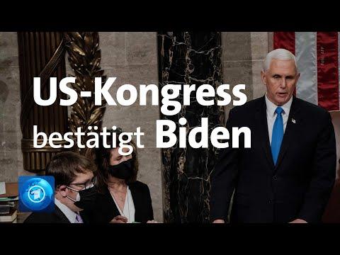 US-Kongress: Biden-Wahlsieg offiziell bestätigt