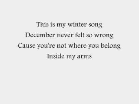 Sara Bareilles and Ingrid Michealson-Winter Song Lyrics (On Screen)