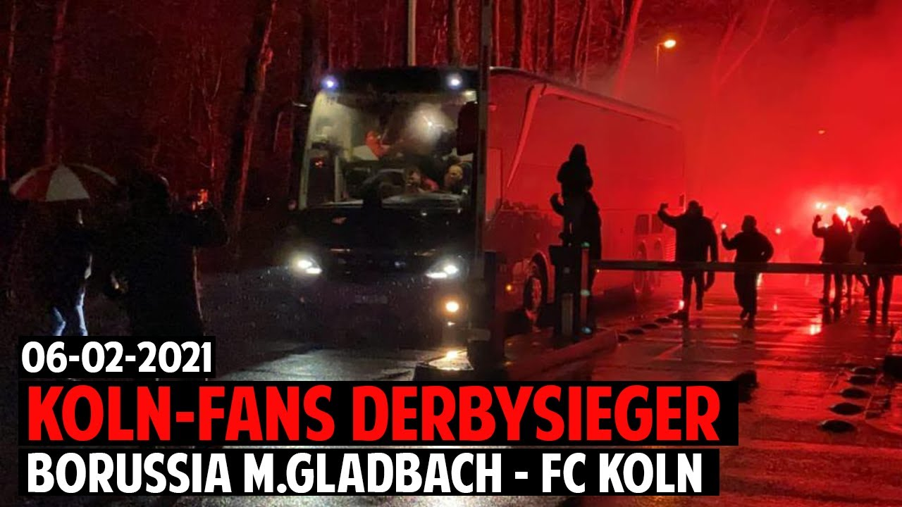 koln fans derbysiger pyro borussia monchengladbach 1 fc koln 06 02 2021 bmg koln 1 2