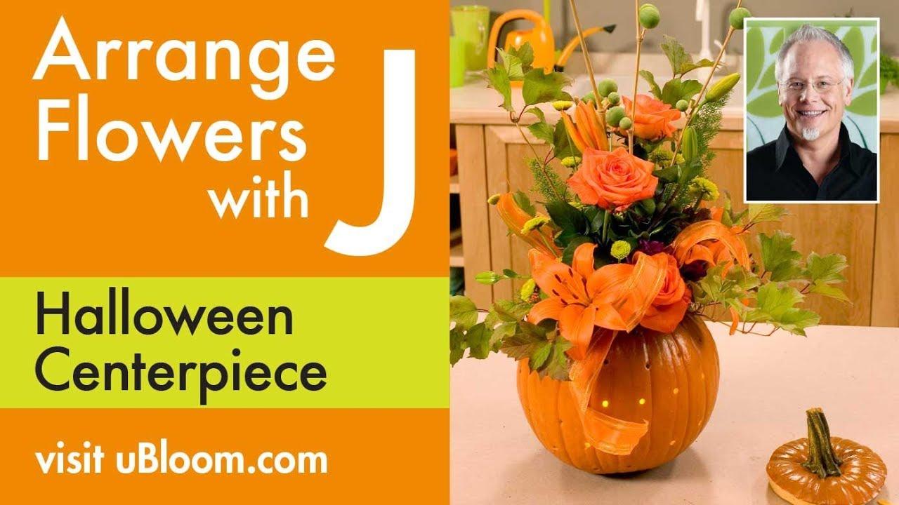 How To Make A Flower Filled Pumpkin Arrangement Youtube