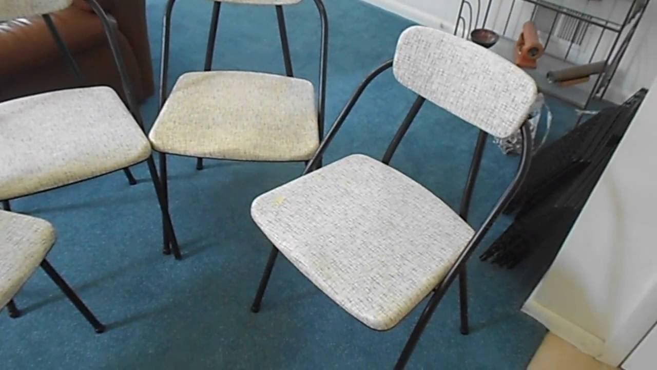 Mid-century Stylaire 90 Folding Chairs by Hamilton Cosco - YouTube