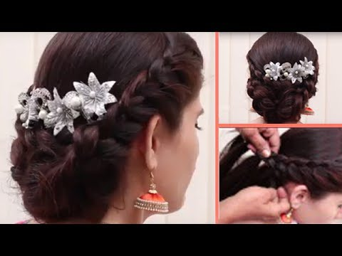 style hair for party easy amp different hairstyle for medium length hair 6987 | hqdefault