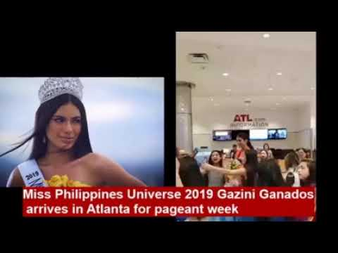 Miss Philippines Universe 2019 Gazini Ganados  arrives in Atlanta for pageant week