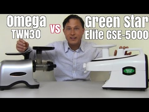Green Star Elite GSE-5000 vs Omega TWN30 Juicer Comparison Review