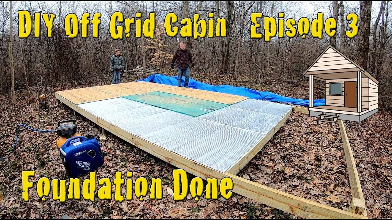 Download DIY Off Grid Cabin - Episode 3 - Building the Foundation and Setting Footer Posts