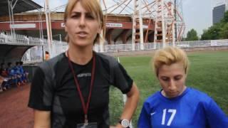 Akdeniz kadınlar futbol tk.golcüsğ Nazlı ve hocası ile söyleşi