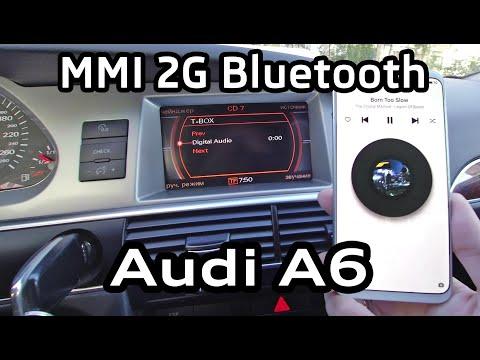 T-BOX Bluetooth MMI 2G Audi A6 A8 Q7 музыка с телефона через штатную систему