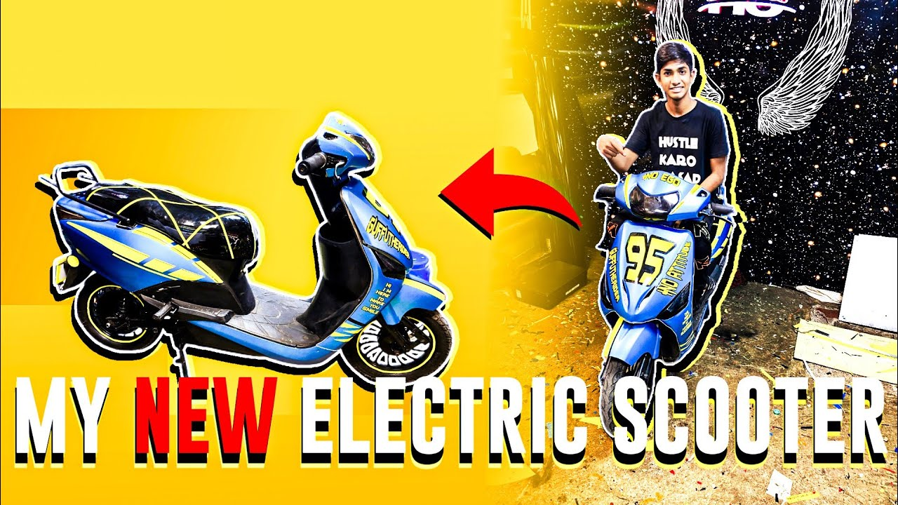 MY NEW ELECTRIC SCOOTER 😍|RESTORATION | GTRVLOGS |