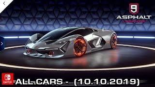 All Cars from Asphalt 9 Legends - Nintendo Switch (10.10.2019)