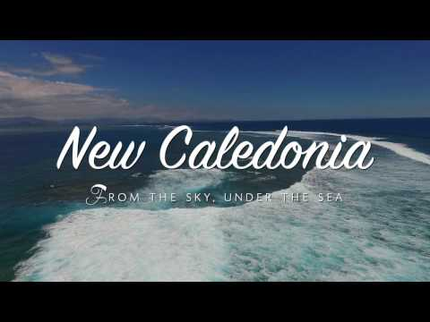 New Caledonia from the sky, under the sea