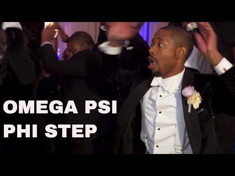The Atomic Dog Stomp Omega Psi Phi [Kevin and Imani Wedding]